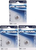 Alkaline knapcelle - Ur batt. 1,5V 28mAt (LR41, D392, 392, AG3) / 3 stk