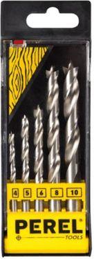 HSS træborsæt - 4, 5, 6, 8, 10mm