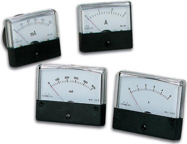 Analog strøm-panelmeter - 3A DC (70x60mm)