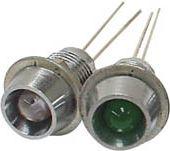 LED m. metalhus - Rød, type 1