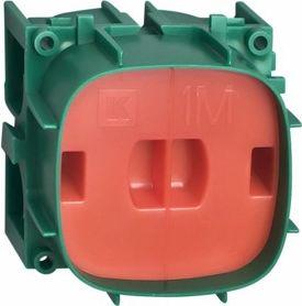 Indmuringsdåse - 1 modul, GRØN (Fuga tilpasset)