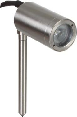 LED pinspot lampe m. jordspyd - 12Vdc (IP65)