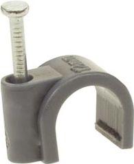 Velleman - Kabelsøm-clips - Rund 4mm, Grå (100 stk. box)