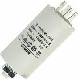 MOTOR kondensator - 10uF / 450V, M8 forskuning, Spadestik