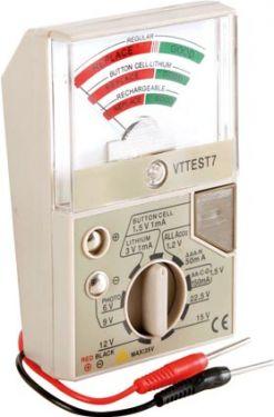 Lomme batteritester - Prof. m. 9 måleområder