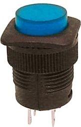 Trykkontakt - 1P OFF-ON m. blå LED (1A - 250V)