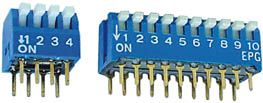 DIP kontakt - 10 x ON-OFF   50V/0,1A   Piano