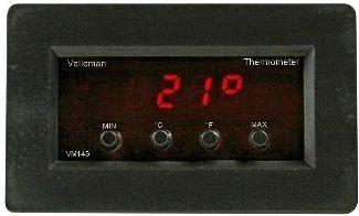 Velleman - VM145 - Digital panel termometer m. min./maks. udlæsning