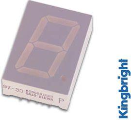 Kingbright - 7-segment LED display - 25,4mm Rød 60mcd Anode