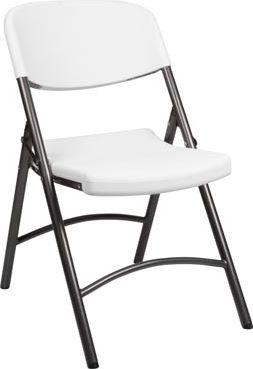 Toolland - Klapstol - Sort stål, Hvid plast