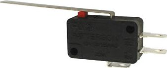 Microswitch - 6A 250V omskifter, Lang arm