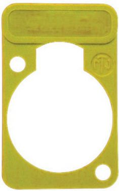 NEUTRIK - Neutrik - Skriveplade til D-konnektorer, GUL