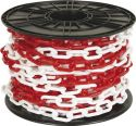 PEREL - Plastkæde - Rød/hvid, 25m på rulle (Ø8mm)