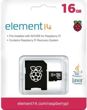 Raspberry Pi - Raspberry Pi 16GB micro SDHC m. NOOBS + SD adapter