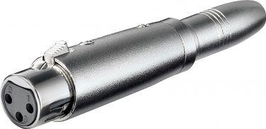 XLR adapter - XLR 3P hun til 6,35mm mono JACK hun