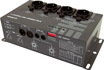 HQ Power - 4 kanal DMX lysdæmpermodul (4 x 5A)