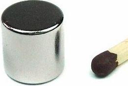 Magnet, neodynium - Cyl. N48 Ni Ø10 x 10mm (1 stk.)