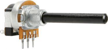 Potmeter - 10 Kohm lin. m. kontakt (Ø6mm)
