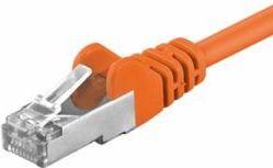 FTP netværkskabel - Skærmet CAT5e, 2xRJ45, Orange (7,5m)