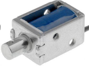Lineær push-pull elektromagnet - 24VDC / 0,8W - 90g / 3mm