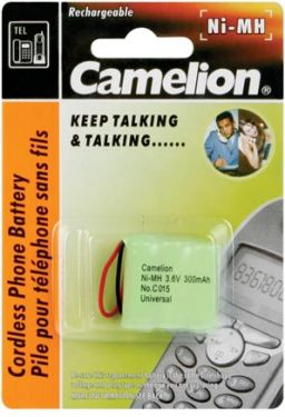 Camelion - Camelion - NiMH t. trådløs tlf. 3,6V 300mAh (universalstik)