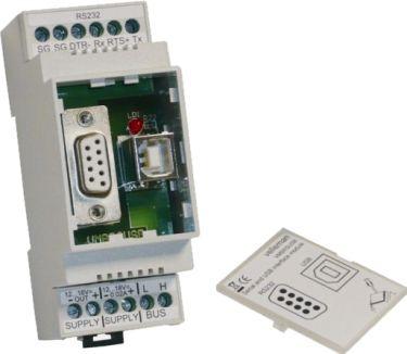Velbus - VELBUS - DIN-skinne RS232/USB interface