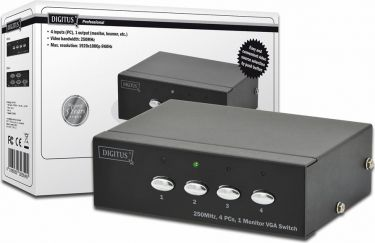 Digitus - VGA video switch 4 ind 1 ud