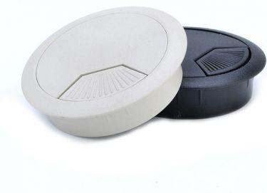 Bord-kabelgennemføringsflange - Plast, Ø60mm, Sort