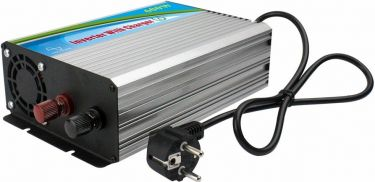 Inverter - 12VDC til 230VAC / 600W, ren sinus + bat.lader