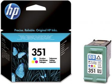 HP blækpatron - HP 351 Tre-farve, 3,5ml (170 sider)