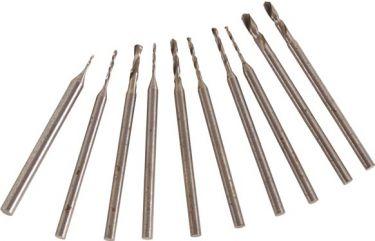 Miniborsæt - 10 bor (0,6 - 2,3mm)