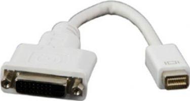 DVI adapter - MINI DVI han til DVI-D(24+1) hun, Hvid (0,2m)