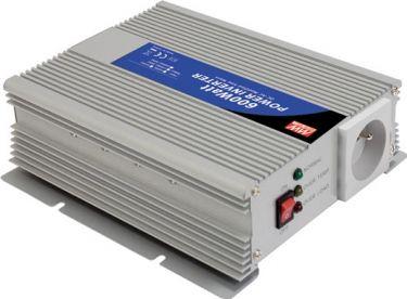 "MeanWell - Inverter - 12V / 600W, Modificeret sinus, ""Soft-Start"""
