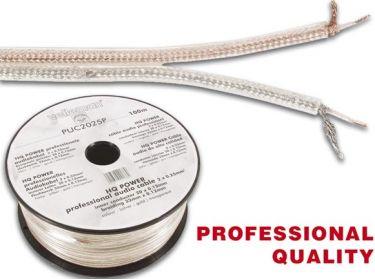 Velleman - Phonokabel - 2 x 0,25mm² skærmet twin, Sølv/Guld (metervare)