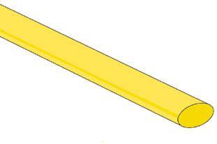 Velleman - Krympeflex 2:1 - 6,4mm GUL (1,2m)