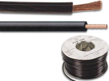 Monteringsledning - 6mm², Sort (metervare)