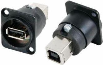 NEUTRIK - Neutrik - Reversibel USB gender changer (USB A og USB B)sort