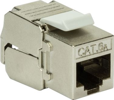 GOOBAY - RJ45 keystone fatning - CAT6a 500MHz skærmet (Toolless)