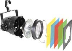 HQ Power - PAR56 lampesæt - Kort Sort m. pære, filtre og befæstning