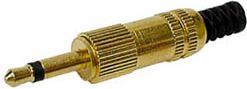 JACK stik - 3,5mm mono han, forgyldt
