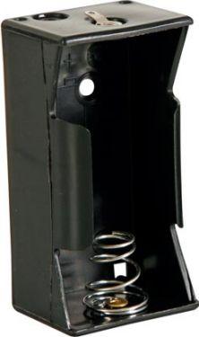 Batteriholder til 1 x D-bat. (m. loddeflige)
