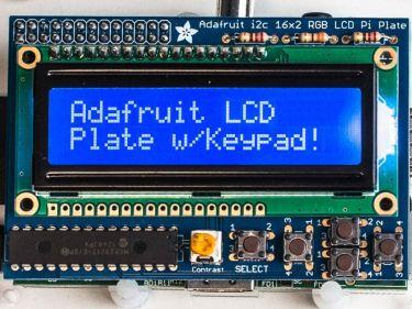 LCD 16x2 blå/hvid + keypad kit til Raspberry Pi