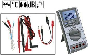 Velleman - DVM1400 multimeter (temp - fugtighed - lyd - lys)