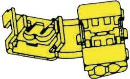 Strømtyv - Gul for 4-6mm² kabel (10 stk.)