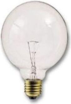 Bailey lights - Globepære G125 - 230V / 100W, E27 sokkel, Klar (Ø125mm)
