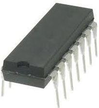 ADC0834CCN A/D converter, 4 kanaler, 8-bit, 5Vdc (DIP14)