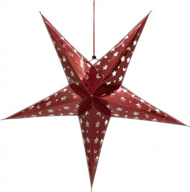 Europalms Star Lantern, Paper, red, 75 cm