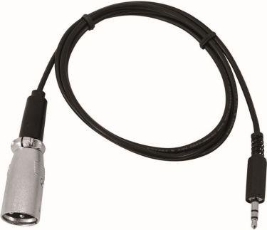 Omnitronic - DMX adapter IN - 3,5mm st. JACK til XLR han (1m)