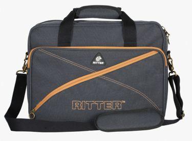 RitterBag Laptop Bag, Farve: Grå & Læderbrun