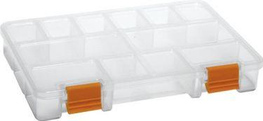 PEREL - Småtingskuffert - Transparent, 11 faste rum